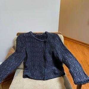 Ann Taylor Loft Blue Sweater/jacket Size L
